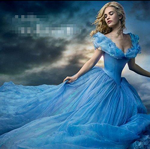 enputtel Cinderella Kleid Rock-Ballettröckchen Prinzessin Kleid zog großen Erwachsenen -Ausgabe (Erwachsene Cinderella Kleider)