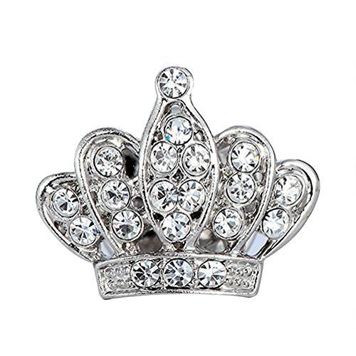CAOLATOR Damen Brosche Strass Krone Brosche Mädchen Brosche Pin für Kleidung Elegant Frauen Schmuck Zubehör Brooch Ansteckernadel Silber - Elegante Kronen