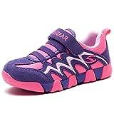 GUBARUN Kinder Schuhe Jungen Klettverschluss Sneaker Mädchen Turnschuhe Outdoor Laufschuhe Fitnessschuhe für Unisex-Kinder, Gr.- 26 EU/ 27 CN Lila