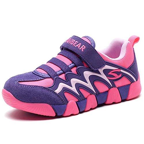 GUBARUN Kinder Turnschuhe Jungen Sportschuhe Mädchen Sneaker Hallenschuhe Outdoor Fitness Laufschuhe für Unisex-Kinder, Gr.- 29 EU/ 30 CN Lila