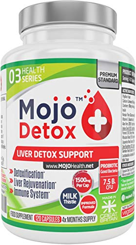 MOJO DETOX - Leberunterstützung Probiotika Gallenblase Entgiftung Reinigen Stärken Gallenreinigung Support Leberreinigung Nahrungsergänzungsmittel für Stärkung des Immunsystems -