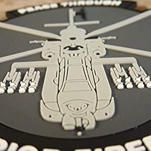Peace Through Superior Firepower AH-64 Apache Helicopter Morale PVC Gomme 3D Fastener Écusson Patch