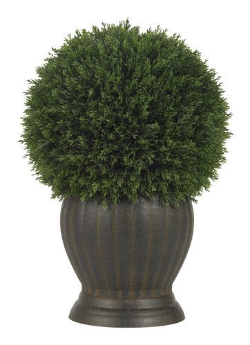 Nearly Natural 4123 Cedar Ball Topiary Decorative Silk Plant, Green by Nearly Natural - Ball Topiary Silk