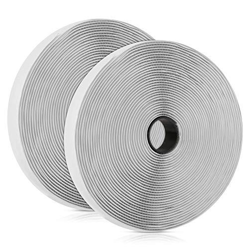 Vegena Klettband Selbstklebend Extra Stark, Klettband Selbstklebend 10M, Klettverschluss Selbstklebend Doppelseitiges Klettband Selbstklebendes Flauschband Hakenband Fliegengitter, 20mm Breit Weiß -