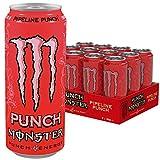 Monster Energy Pipeline Punch Energy Drink, die perfekte Mixtur aus den besten Geschmacksnoten Hawaiis - Maracuja, Orange & Guave, Dosen-Palette, EINWEG (12 x 500 ml)