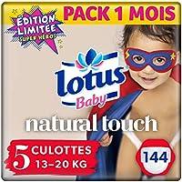 Lotus Baby Natural Touch - Culottes Taille 5 (13-20 kg) - lot de 4 packs de 36 culottes (x144 Culottes)