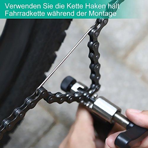 YISSVIC Kettennietdrücker Werkzeug Fahrradketten Entferner Werkzeug Fahrradreparatur-Set für Entfernen der Fahrrad Ketten schwarz - 5