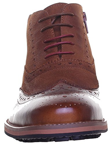Reece Justin Bruno mat Chaussures en cuir pour homme Semelle en caoutchouc résistant Marron - Camel EK