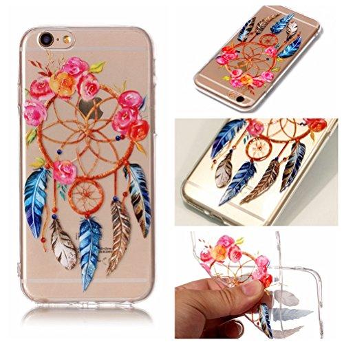 iPhone 6 Hülle, Voguecase Silikon Schutzhülle / Case / Cover / Hülle / TPU Gel Skin für Apple iPhone 6/6S 4.7(Pflaumen/Hirsch 04) + Gratis Universal Eingabestift Rose Traumfänger