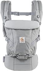 Ergobaby Adapt Award Winning Ergonomic Multi Position Baby Carrier (Pearl Grey)