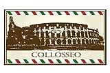 Leotie GmbH Alfombra Pasillera Ciudad Coliseo Roma Impreso 99x55 cm