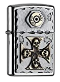 Zippo Sturmfeuerzeug 2004746 EMBLEM-LIGHTER VINTAGE STYLE WITH SKULL-CROSS