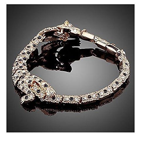 La Vivacita designer's Leopard Bracelet Swarovski crystals 18ct rose gold plated Gift for women