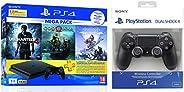 Sony PS4 1 TB Slim Console (Free Games: God of War/Uncharted 4/Horizon Zero Dawn) + Dualshock 4 Wireless Contr