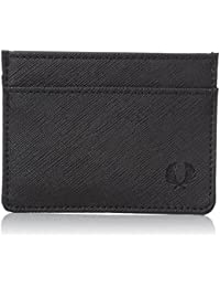 Fred Perry Saffiano Card Homme Wallet Noir