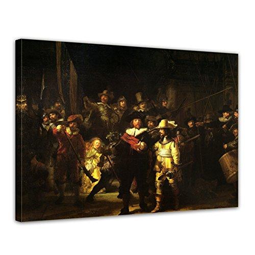 Kunstdruck - Rembrandt - Die Nachtwache - 120x90cm XXL einteilig - Alte Meister - Leinwandbilder - Bilder als Leinwanddruck - Bild auf Leinwand - Wandbild von Bilderdepot24 Rembrandt-bilder