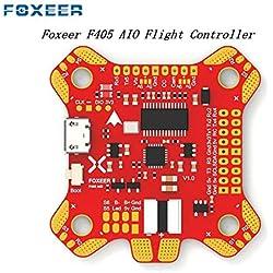 LanLan Accesorios del Drone, Foxeer F405 AIO Betaflight Controlador de Vuelo STM32 MPU6000 OSD Incorporado 5V / 2A BEC PDB Control de cámara