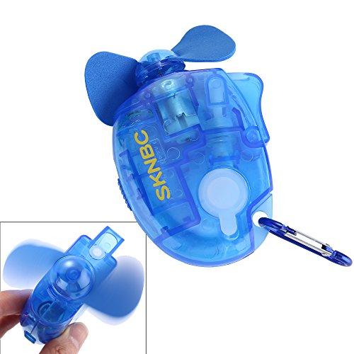Spray ventilador mosquetón water Misting Ventilador portátil MINI ventilador 1piezas azul