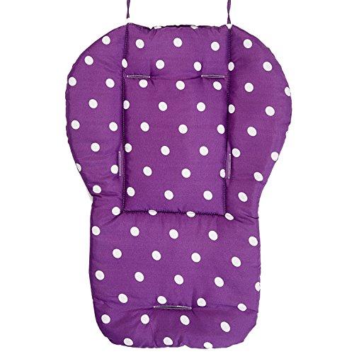 Preisvergleich Produktbild Gosear Kinder Baby Punkte Baumwolle Cartoon Doppel Doppelseitige Zur Verfügung Kinderwagen Sitz Stuhl Pad Kissen Lila