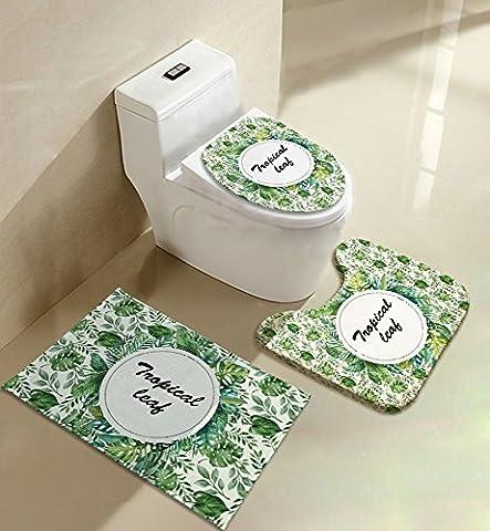 Kleine frische grüne Garten Toilettenkissen Ground Mat Drei Stück Sets von Bad Produkte Four Seasons Universal, A