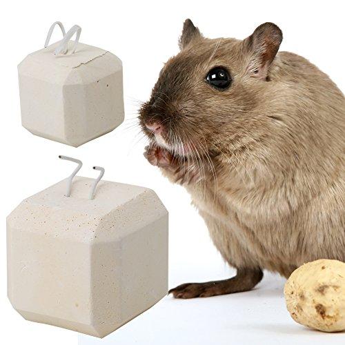 Autone Pet Zähne Schleifstein-Mineral Stein Calcium Kauspielzeug, Hamster Ratte Chinchilla Kaninchen Zähne Grinder S L, Large -