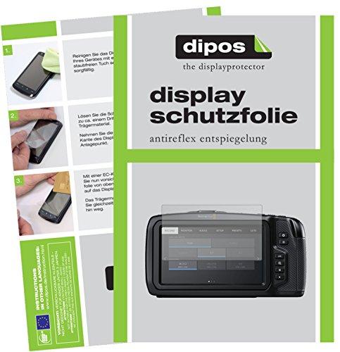 dipos I 6X Schutzfolie matt passend für Blackmagic Pocket Cinema 4K Folie Displayschutzfolie (Blackmagic Kamera Pocket Cinema)