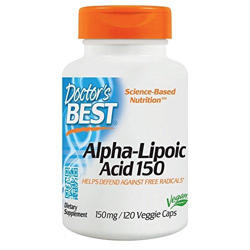 Doctor's Best Alpha Lipoic Acid, 150mg, 120 Vegetarian Capsules
