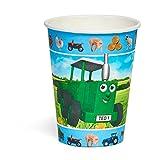 Lot de 8 gobelets Tractor Ted - pour fêtes d'anniversaires et goûters d'enfants ...