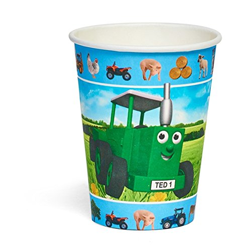 Party-Becher, Motiv: Ted der Traktor, 8Stück - Traktor-becher
