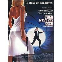 Mauvais Genres LICENSE TO KILL French Movie Poster 15x21-1987 - James Bond, Timothy Dalton