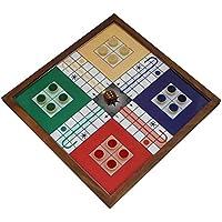 Ludo legno lavagna magnetica e pezzi set - giochi da tavolo per famiglie e adulti -26 x 26 x 2 cm - Deck Box Piazza