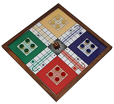 Ludo Board Game Wooden 4 Player Family