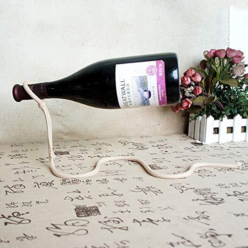 GuoYq Kette Flaschenhalter schwimmende Illusion Rahmen Halterung, Vintage Kette Flaschenhalter Magie schwimmend, Küchenmöbel Bar Dekoration Handwerk Zubehör Dekoration - Magie Arbeitsplatte