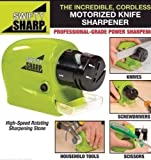 RIANZ Motorized Sharpening Swifty Knives Power Sharpener Precision Scissors Sharp Tool Home Kitchen Electric Grind Machine