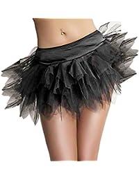 aimerfeel Sexy Black Layered Peticoat / tutu Skirt for Corset / Costume, size 4XL (18-20)