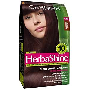 Garnier herbashine glanz creme haarfarbe nr 415 mahagoni braun beauty - 10 minuten haarfarbe ...