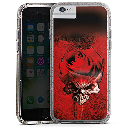 Apple iPhone 6 Plus Bumper Hülle Bumper Case Glitzer Hülle Rose Blut Blood Bumper Case Glitzer rose gold