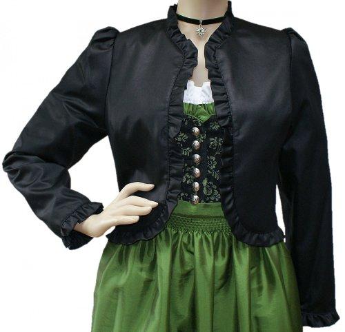 rndl-Jacke Spenzer Bolero Trachtenjacke Blazer Satin schwarz, Größe:50 (Kostüm Shop In Red Deer)