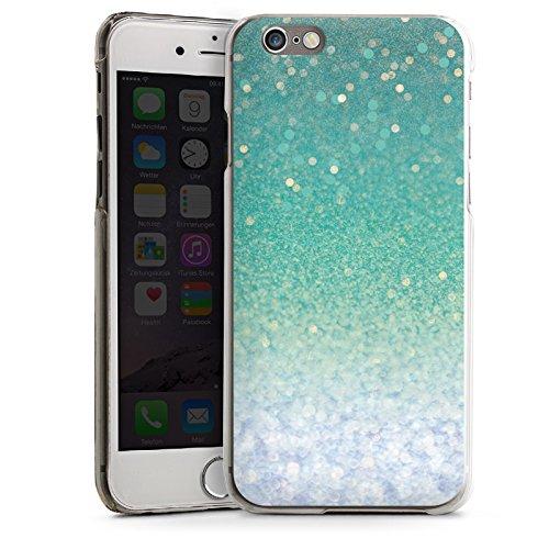 Apple iPhone 4 Housse Étui Silicone Coque Protection Paillettes Vert Bling-bling CasDur transparent