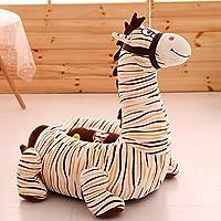 MeMoreCool Bambini Cartoon divano peluche peluche Leone, Giallo Sedia per bambini e bambine, perfetto regalo (Zebra Eye)