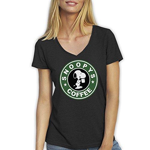 V-Ausschnitt Die mit den Hunden geht Comedy Shirts Kurzarm Top Basic Print-Shirt 100/% Baumwolle Damen V-Neck