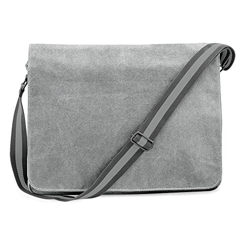 Shirtstown Vintage Canvas Despatch Bag, Schultasche, Umhängetasche grey