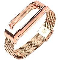 Starcrafter Elegant Schön Rostfreier Stahl Metallisch Xiaomi Mi Band 2 Armband Smartwatch Ersatzarmband für XIAOMI 2 Wireless Armband Zubehör