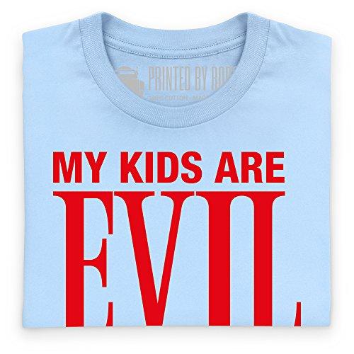 My Kids Are Evil T-Shirt, Herren Himmelblau