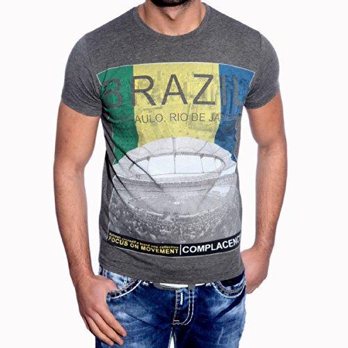 T-Shirt Poloshirt für Herren Männer Jungs Jungen A16657RN Anthrazit