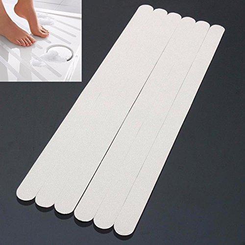 Tutoy 6Pcs PVC-Badezimmer-Keramischer Fliesen-Fußboden-Antibeleg-Aufkleber-Badewannen-Sicherheits-Klebeband-Matte -
