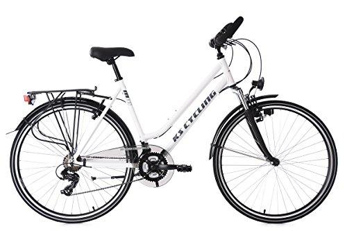 KS Cycling Damen Trekkingrad Alu-Rahmen 28\'\' Metropolis RH 53 cm Multipositionslenker Fahrrad, weiß, 28