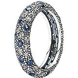 Pandora Damen-Ring 925 Silber Zirkonia blau Gr. 54 (17.2) - 190915NBC-54