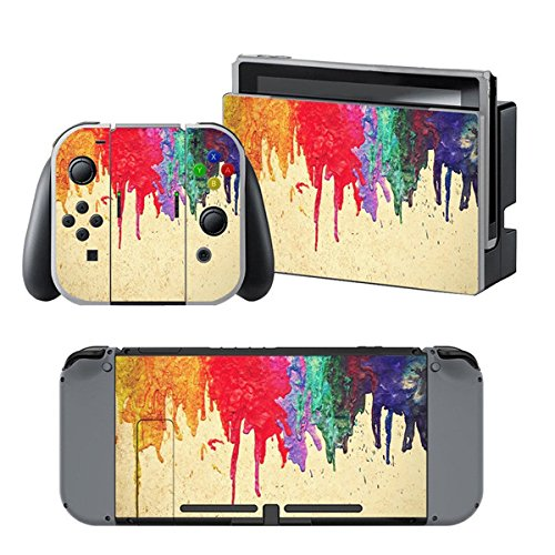 chickwin-nintendo-switch-skin-consola-design-foils-vinyl-pegatina-sticker-and-2-thumb-grips-color-pi
