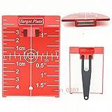 Rot Magnetische Zielscheibe Teller mit Bein für Laser Level Meter